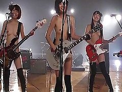 Wild nubile musicians from Japan display off their sugary-sweet lil mammories..