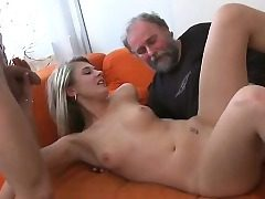 Young nymph gets unholy and likes bang-out with senior banger