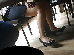 Candid soles and stilettos at work #21