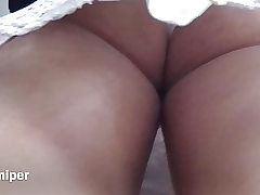 Upskirt - Sexy milky panty with busty ass