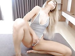 Ash-blonde Ejaculation Webcam