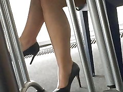 Candid feet and heels at work #13
