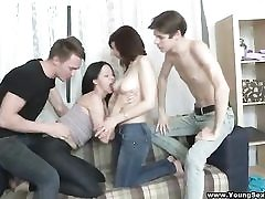 Dual orgy after a double appointment